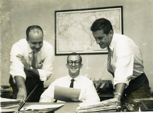 Fred Pape at work Jack Frucella Bill Joyner, early 1960s