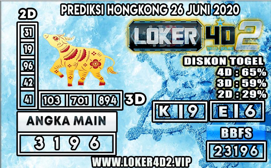 PREDIKSI TOGEL HONGKONG LOKER4D2 26 JUNI 2020