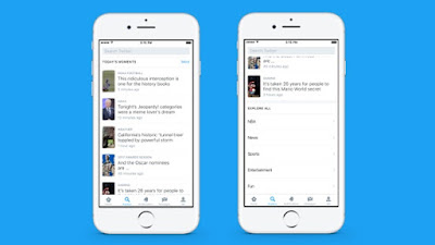 Twitter Luncurkan Fitur Explore, Gabungkan Moments, Search, Trends, Dan Live Video!