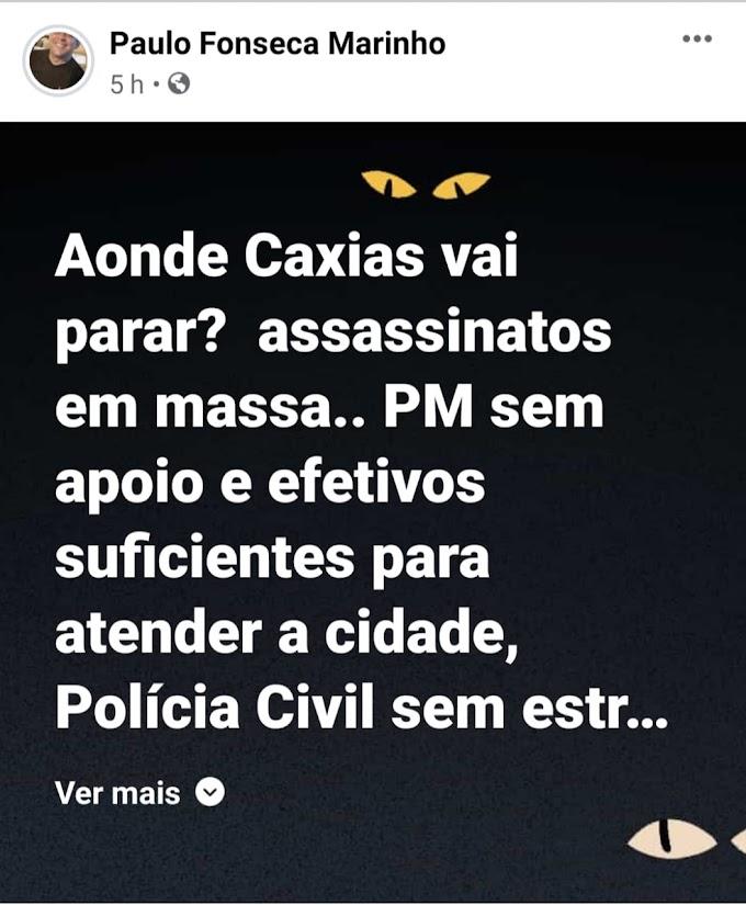 CIDADE - Paulo Marinho alerta sobre a insegurança e os avanços do Covid em Caxias