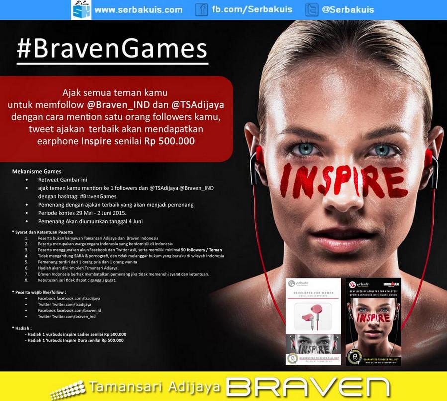 Kuis Braven Games Berhadiah 2 Earphone Yurbuds senilai 1 Juta