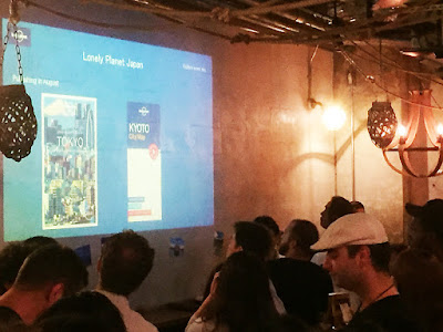 Slideshow at 300 Bar Next for Lonely Planet Tokyo new edition launch party.