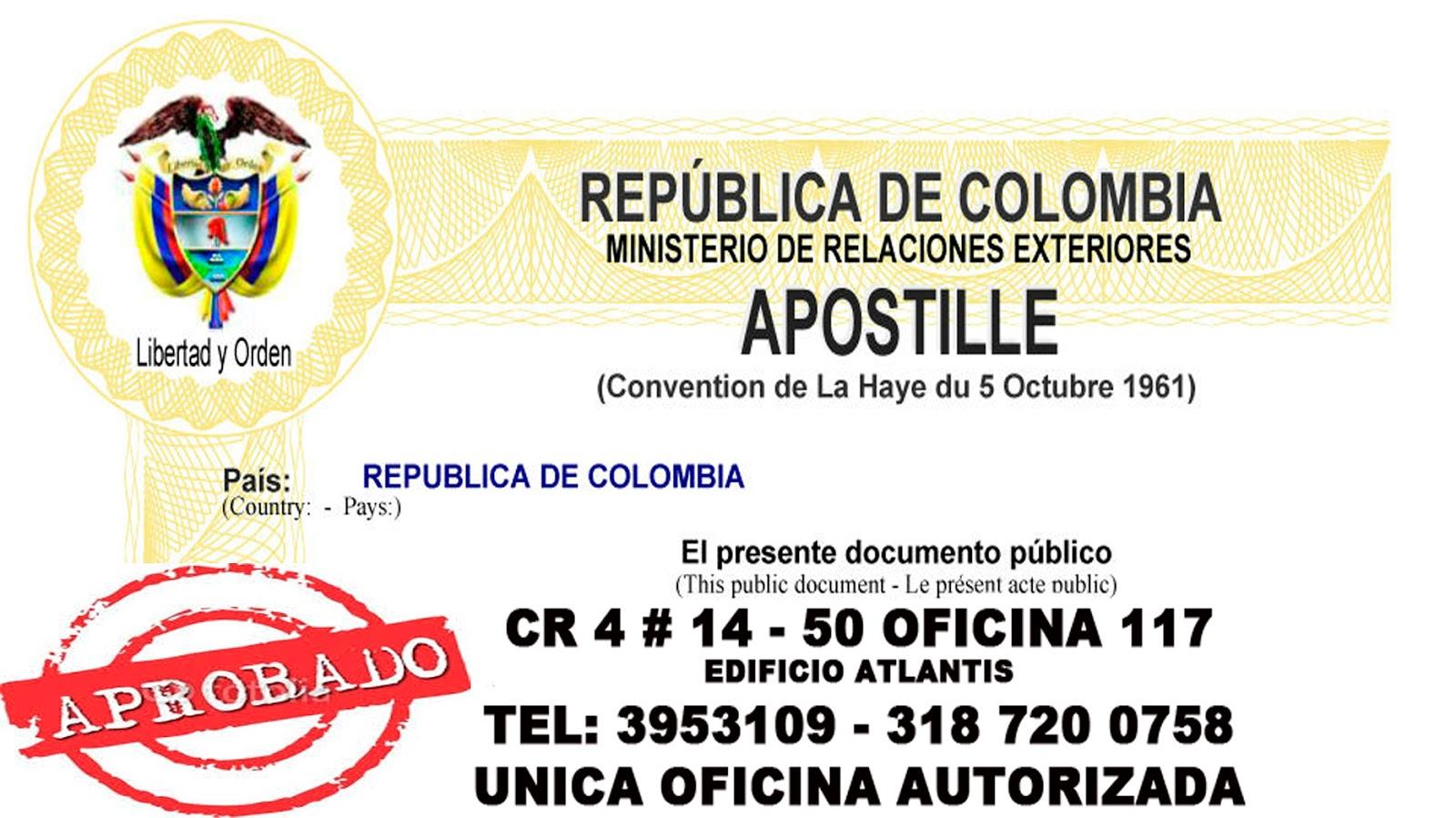 APOSTILLA EN CALI, LEGALIZACION,tel 3103851682 TRADUCTOR OFICIAL ...