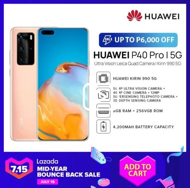 Deal Alert: Huawei P40 Pro 5G Will Be On Sale for Only Php44,990 (Instead of Php50,990)