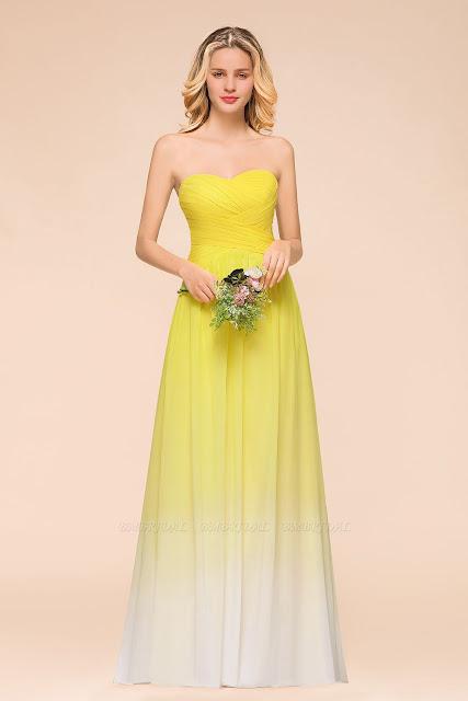 Yellow Bridesmaid dress buy Online