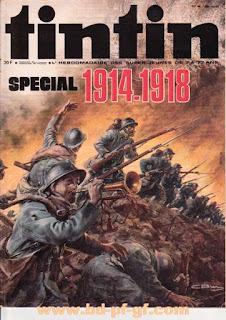 Tintin numéro 46, 1975, Spécial 1914-1918, belle couverture
