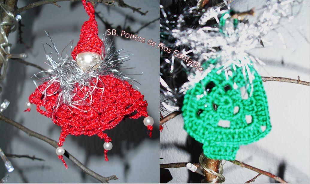 Enfeites de Natal em Crochet