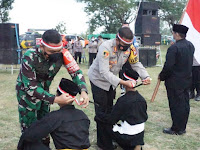 Sinergitas TNI-Polri dengan Latihan Bersama Para Pendekar dan Penandatanganan Deklarasi