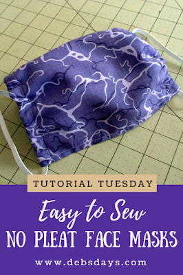 Easy No-Pleat Cloth Fabric Face Mask Sewing Project