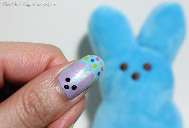 Peeps Easter Nail Design