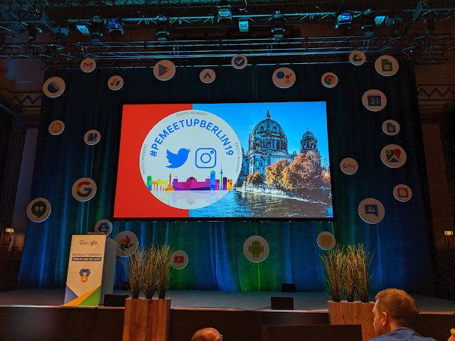 Waiting for the opening session of the Google PE Berlin Meetup 2019