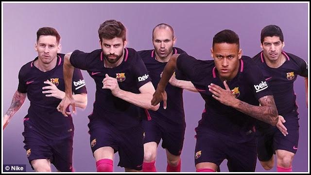 Jersey Away Barcelona Untuk Musim 20162017