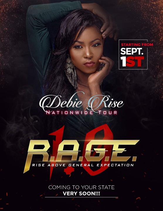 "Ex BBN Housemate, Debie Rise Nationwide Tour ""Rage"" September 2017"