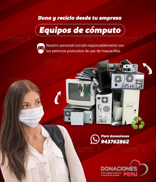 Dona equipos de computo