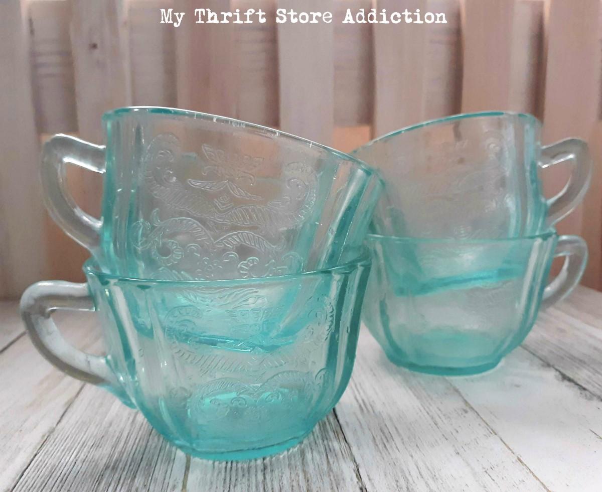 reproduction aqua teacups