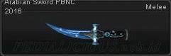 Arabian Sword PBNC 2016