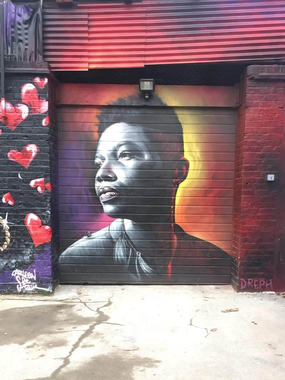 03. Seven Stars Yard, London street art by artist Dreph