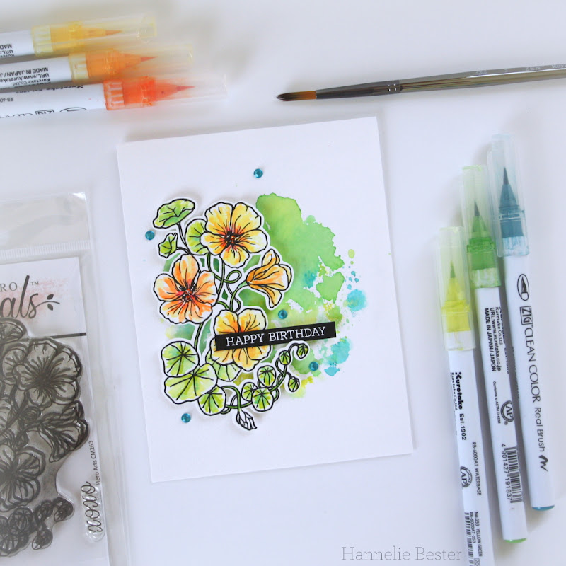 Hero Arts Florals - Nasturtium