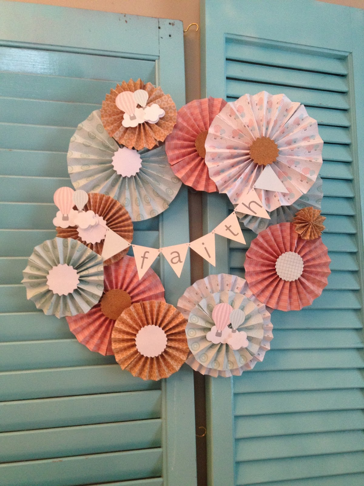 Silhouette Cameo Tutorial Paper Wreath Baby Shower Decorations Diy