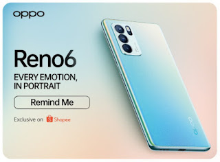 Oppo Reno6 secara eksklusif dijual di Shopee