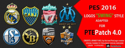 PES 2016 Logos Packs for PTE Patch 4.0 by PTEPatch