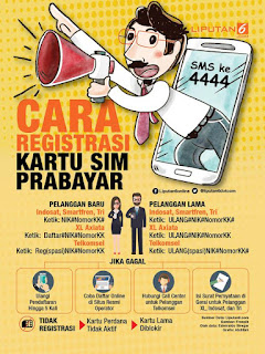Begini Cara Pendaftaran Ulang Kartu Prabayar Indosat, Telkomsel, Axis, 3 Dan Xl