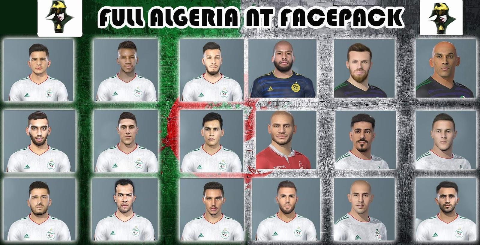 PES 2019 Full Algeria National Team Facepack - PLAY FOR U