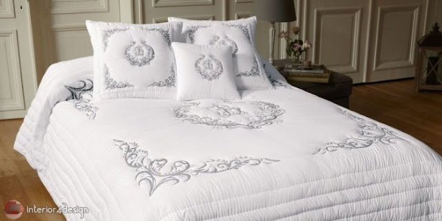 Modern Bed Embroidered Linens 1