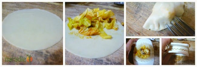empanadillas de repollo y champiñones sin gluten