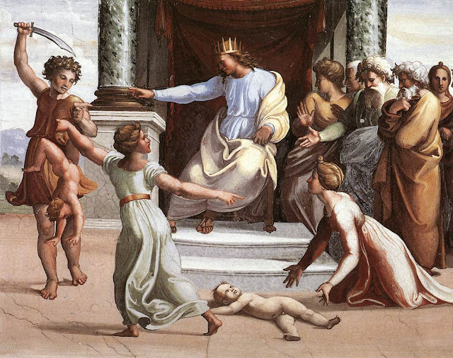 Le jugement de Salomon par Raphaël