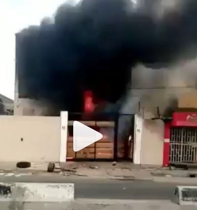 Governor Sanwo-Olu's Mother's House In Surulere Set Ablaze (Video) #Arewapublisize