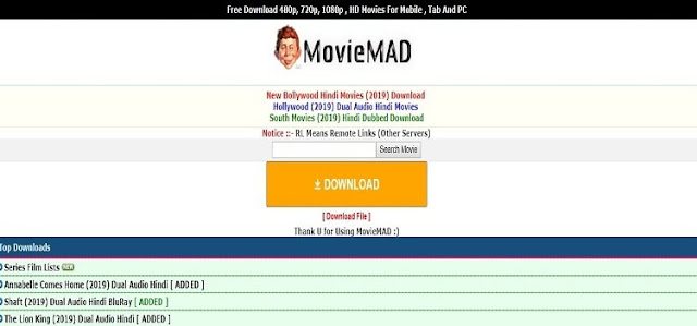 Moviemad: 300mb movie Downloading Website & New Url Link