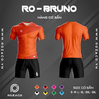 Áo Không Logo Rozaco RO-BRUNO Màu Cam