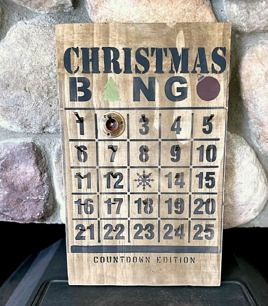 Rustic Christmas Bingo Advent Calendar Countdown Edition