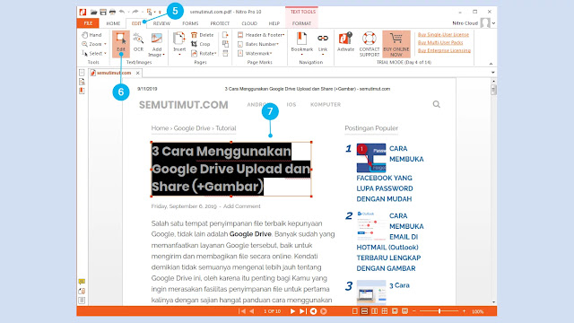 cara edit file pdf lewat laptop