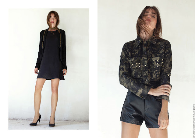 Vestidos invierno 2016 ropa de moda mujer Pura Pampa. Moda 2016.