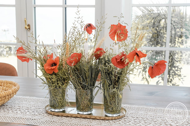 Naturdeko aus Mohnblumen und Gräsern selbermachen