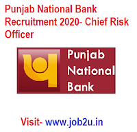 Punjab National Bank Recruitment 2020, Chief Risk Officer