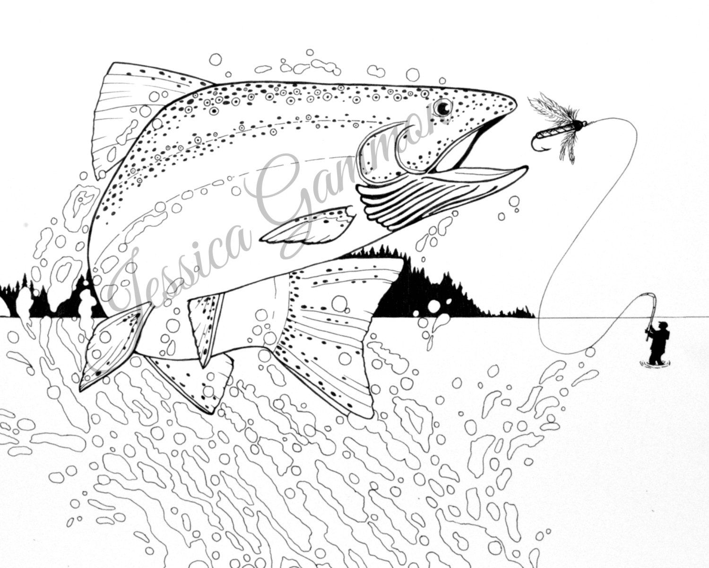 Malvorlage Tiefsee Anglerfisch