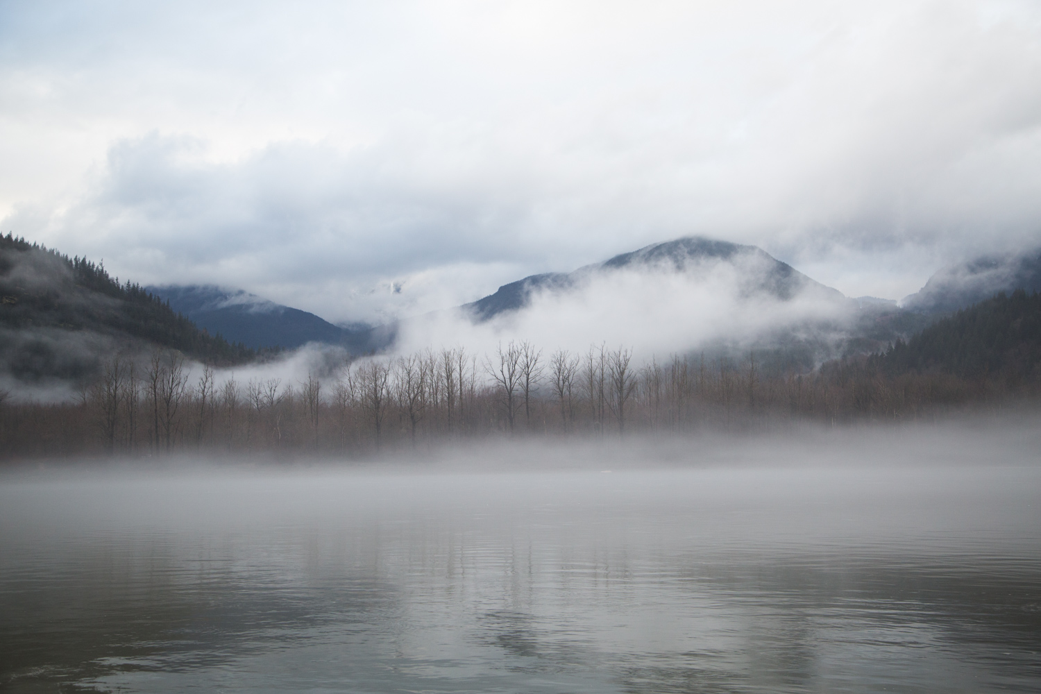 Hope British Columbia Foggy Lake