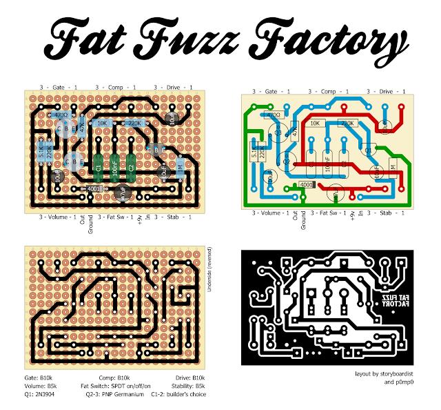 Perf and PCB Effects Layouts Univox Super Fuzz Schematic on proco rat schematic, super octave schematic, univox amp head,