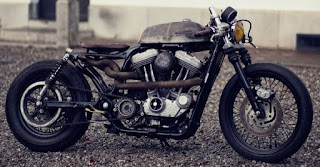 one puch sportster brat by zadig motorcycles side right