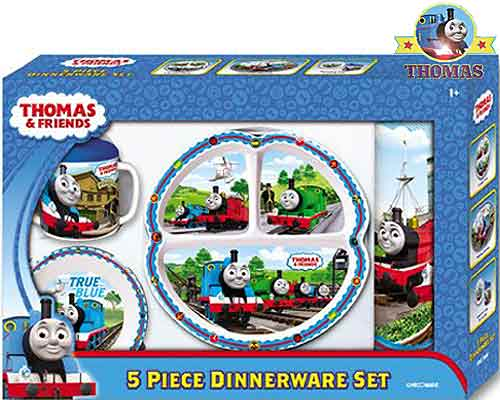 Thomas The Train 5 Piece Dinnerware And Mealtime Sets For