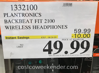 Deal for the Plantronics BackBeat Fit 2100 Wireless Headphones at Costco