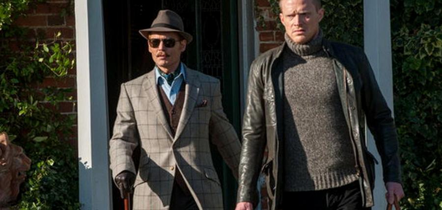 Johnny Depp şi Paul Bettany în filmul Mordecai