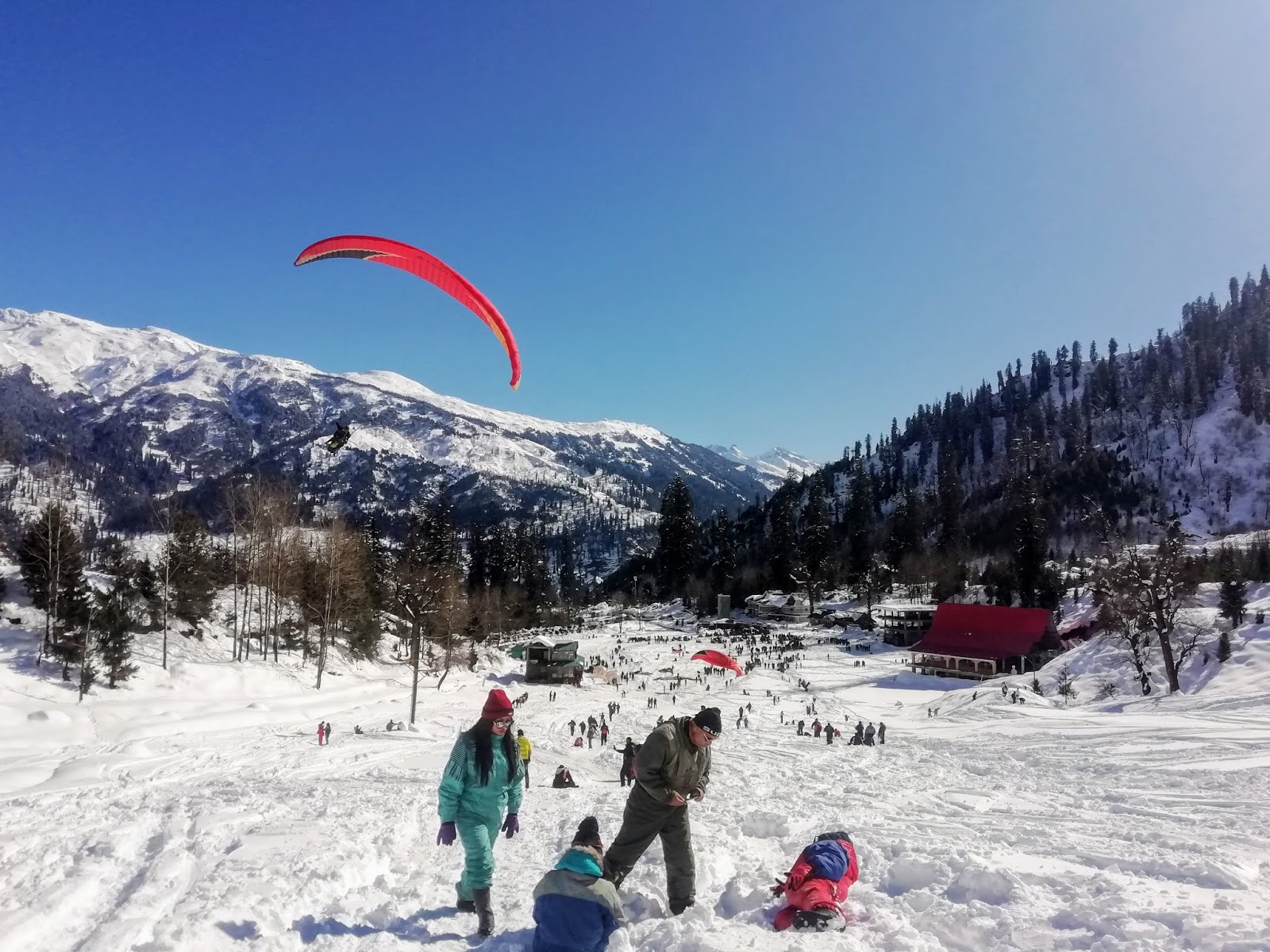 The White Snowy Solang Valley