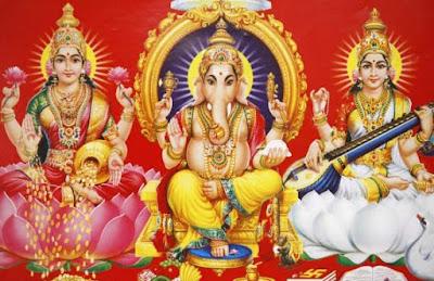 ganesha-with-laxmiji-sarswati