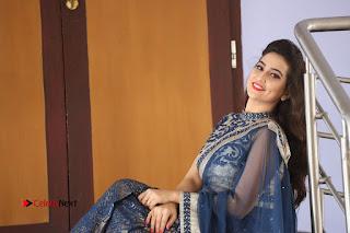 Actress Manjusha Pictures in Saree at Srirastu Subhamastu Song Launch  0261.JPG