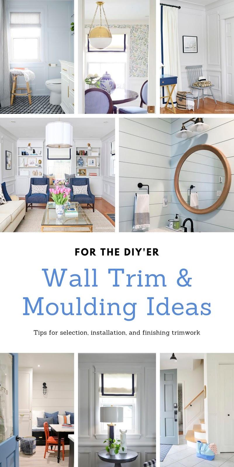 wall trim ideas, wall molding ideas, wall moulding ideas, wall molding, shiplap alternatives, board and batten, wainscotting