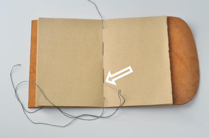 DIY Leather Notebook - How to, part 9